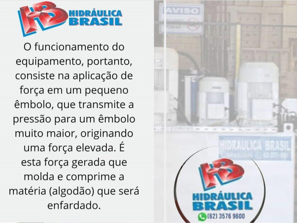 Unidade Hidráulica de enfardamento de algodão, desenvolvida pela equipe técnica da Hidráulica Brasil