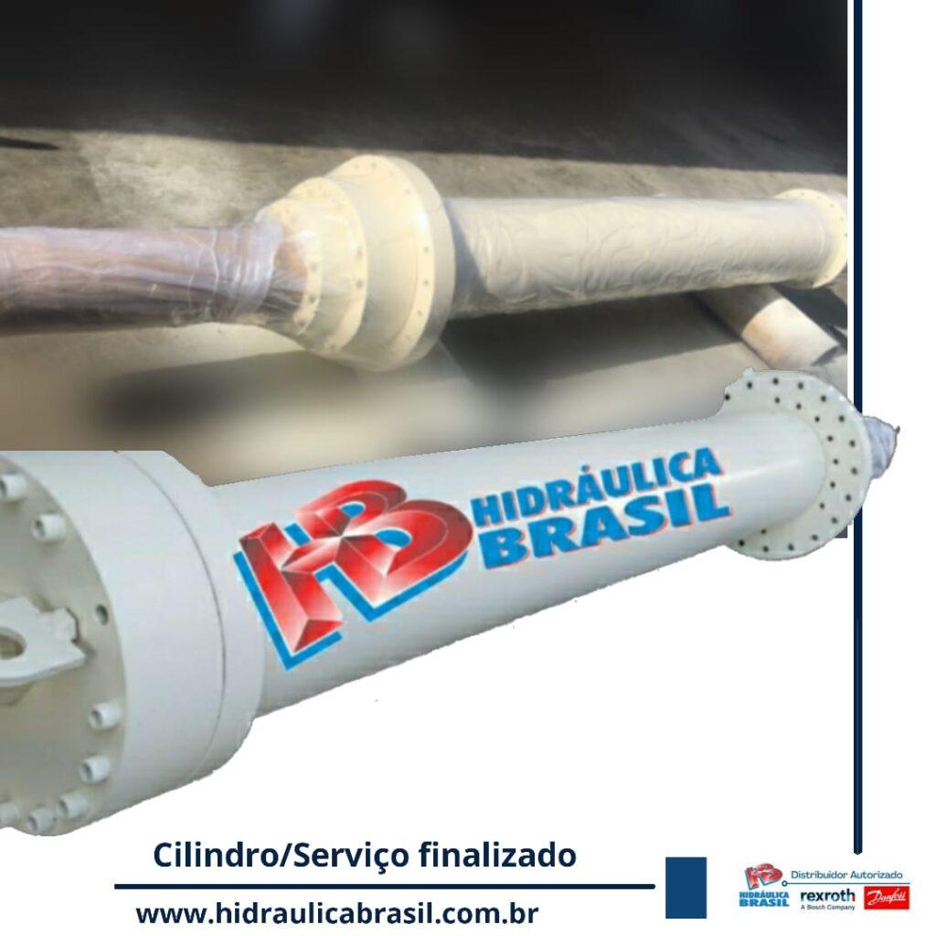 Cilindro revisado na Hidráulica Brasil