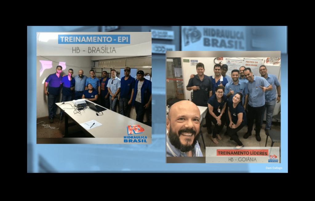 Treinamentos internos nas unidades Goiânia e Brasilia.